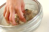 カキのクリームシチューの下準備1