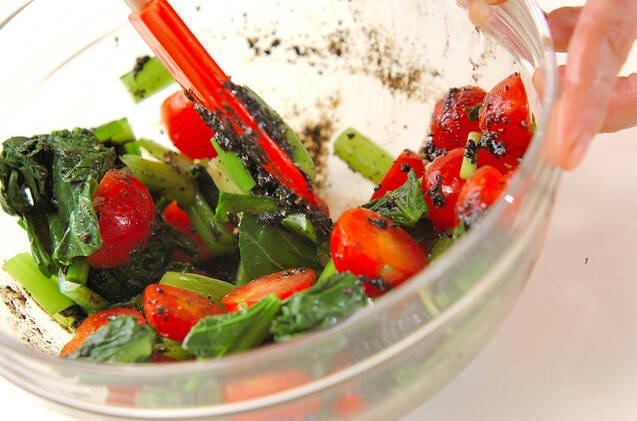 プチトマトのゴマ汚しの作り方の手順5