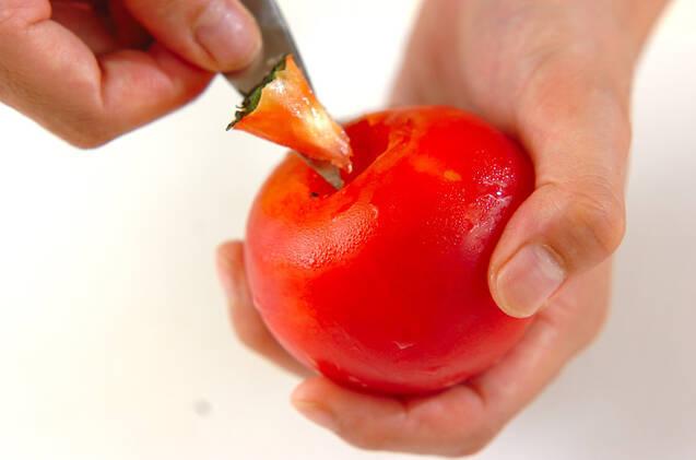 牛肉のトマト巻きの作り方の手順1