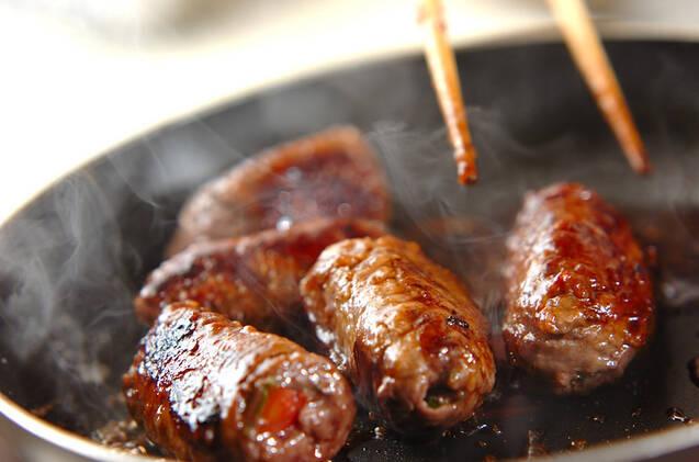 牛肉のトマト巻きの作り方の手順5