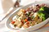 チキンとエビのクリーム丼の作り方の手順