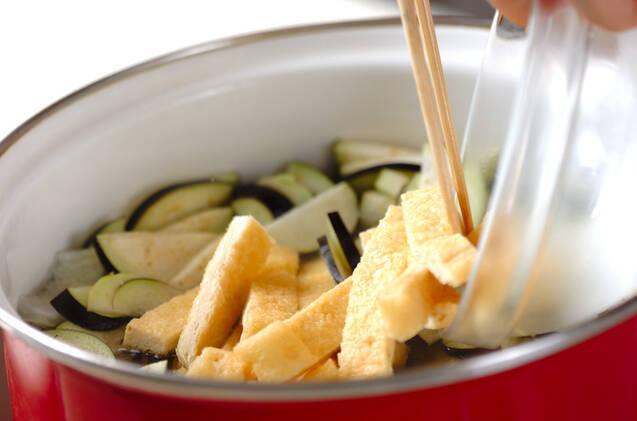 ナスのみそ汁の作り方の手順4