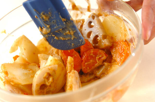 温野菜サラダの作り方の手順3