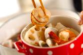 海鮮鍋~トマト鍋~チーズニョッキの作り方1