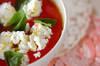 トマトとチーズのスープの作り方の手順
