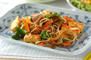 ウナギと豆腐の炒め物