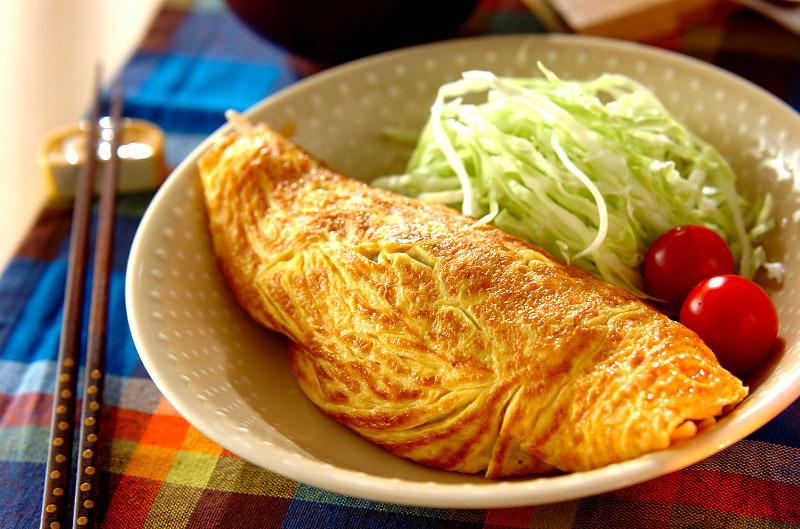 3.高菜オムレツ