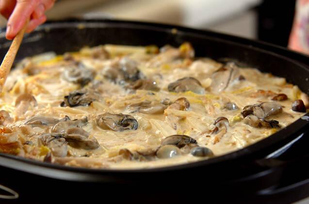 白菜とカキのカレーグラタンの作り方の手順6