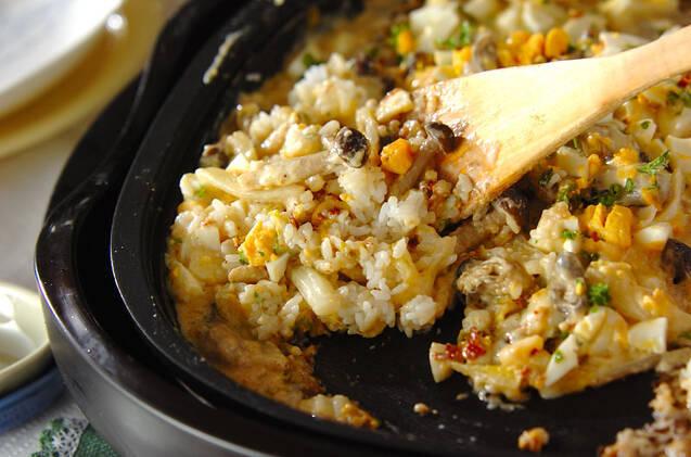白菜とカキのカレーグラタンの作り方の手順8