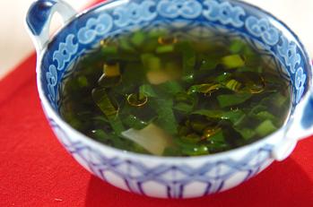 小松菜のニンニクスープ