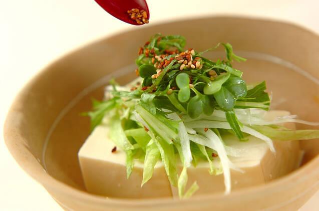 豆腐サラダの作り方の手順3