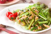 ピリ辛スタミナ!豚肉とニンニクの芽炒め