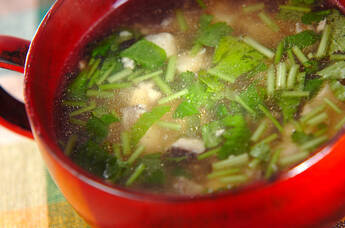 ひき肉入りスープ