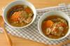 アーモンドミルクのスタミナスープの作り方の手順