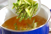 アスパラのスープの作り方1