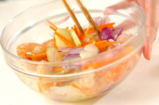 炒めホタテとエビのさわやかマリネの作り方の手順6