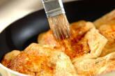 温泉卵とチーズの揚げ焼きの作り方2