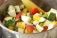 ハンバーグ夏野菜ソースの作り方5
