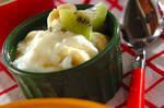 バナナとキウイのヨーグルト