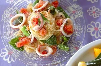 冷製イカトマトパスタ