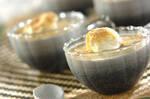 豆腐の黒ゴマプリン