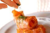 トマトのベーコン巻きの作り方3