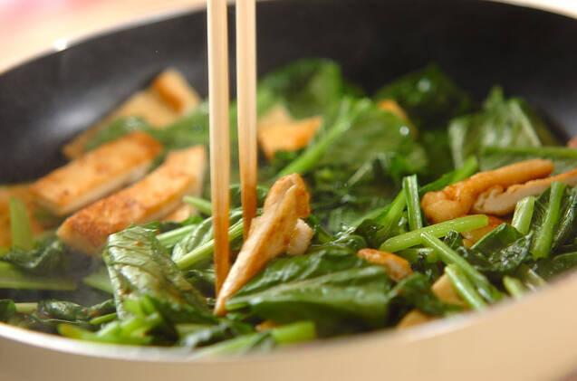小松菜のユズコショウ炒めの作り方の手順5
