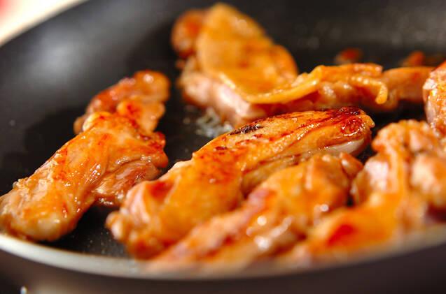 照り焼き鶏の和風生春巻きの作り方の手順4