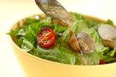 ささ身の梅しそパスタとアサリサラダの作り方5