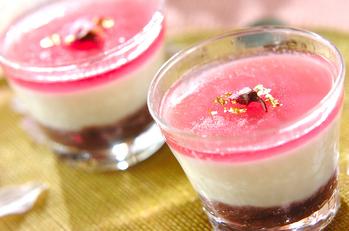 桜ミルクプリン