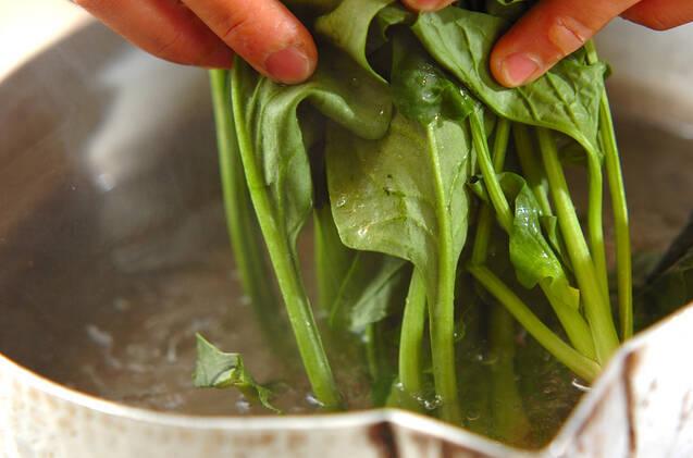 ホウレン草とジャコのお浸しの作り方の手順1