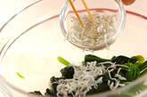 ホウレン草とジャコのお浸しの作り方3