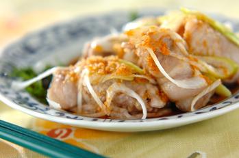 エノキ豚肉のレンジ蒸し
