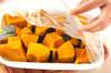 カボチャのレンジおかずの作り方の手順2