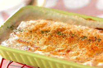 鮭とポテトのグラタン