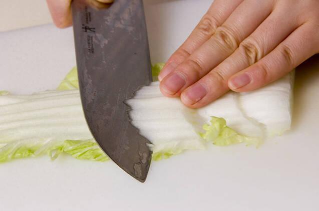 豚肉と白菜の重ね蒸しの作り方の手順1