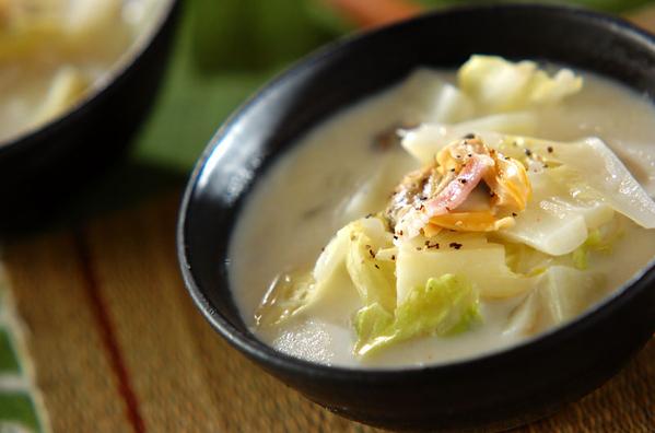 アサリと白菜の和風チャウダーのレシピ