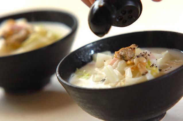 アサリと白菜の和風チャウダーの作り方の手順5