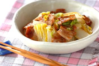 白菜と豚バラ肉の蒸し煮