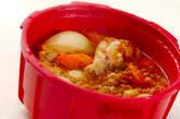 レンジ圧力鍋で野菜と手羽元のスープカレーの作り方7