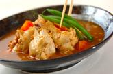 レンジ圧力鍋で野菜と手羽元のスープカレーの作り方3