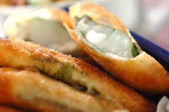 白身魚と大葉の揚げ物