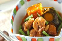 鶏とカボチャの煮物