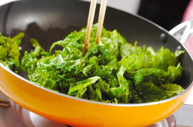 菜の花のピリ辛炒めの作り方の手順5