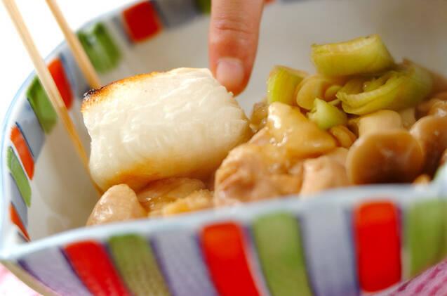 鶏と餅の治部煮の作り方の手順7