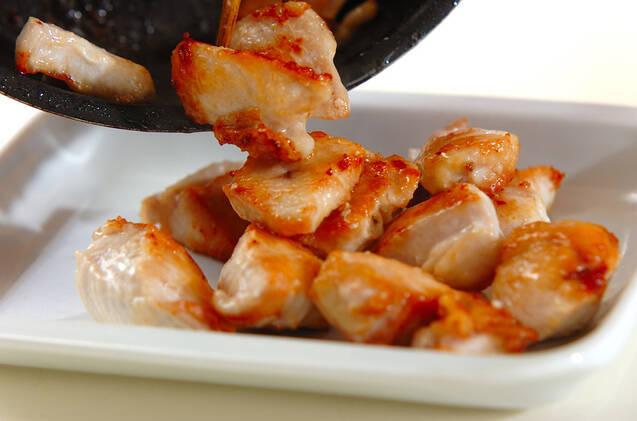 鶏と白ネギの韓国風みそ和えの作り方の手順2