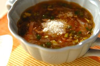 ピーマンのトマトスープ