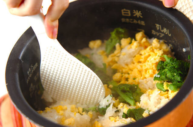 菜の花ご飯の作り方の手順6