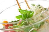 キヌサヤのサラダの作り方4