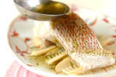 鯛とタケノコ蒸し青のりあんかけの作り方3